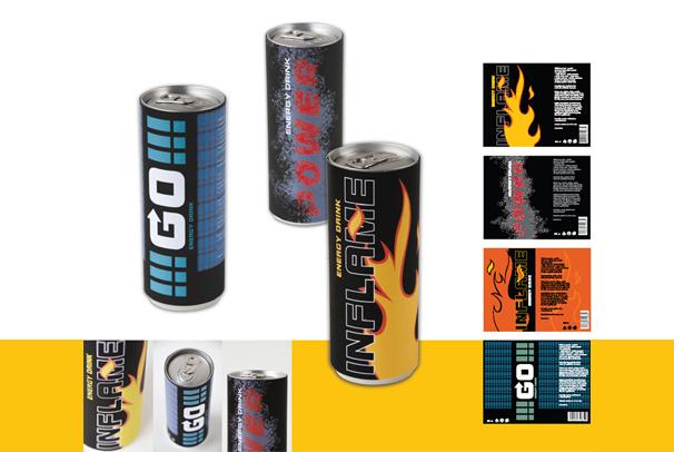 Produktový design FMK UTB - Obal na energetický nápoj e616af0b14a