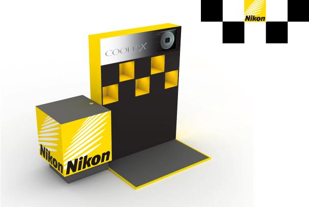 Produktový design FMK UTB - Prodejní stánek Nikon 5e07288fd6b